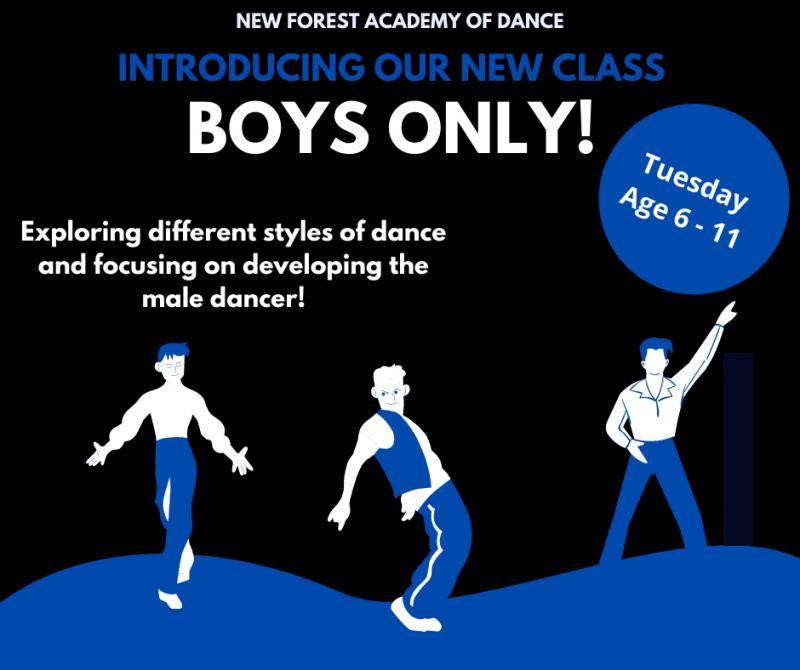 Boys only dance class