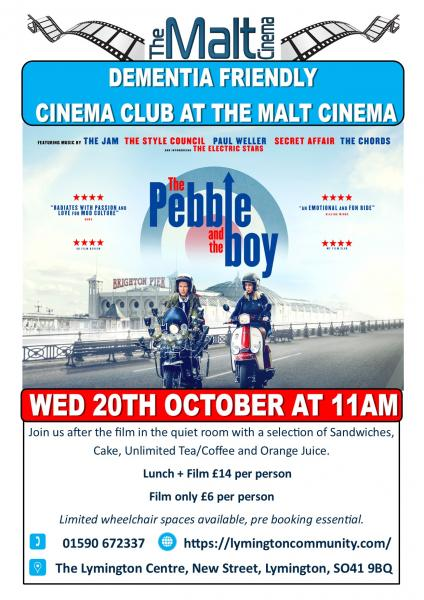 Dementia Friendly Screening - The Pebble and the Boy at the Malt Cinema