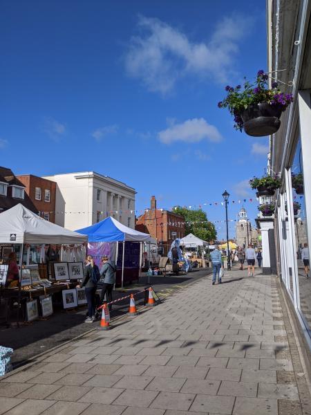 Lymington Charter Market  socially distanced