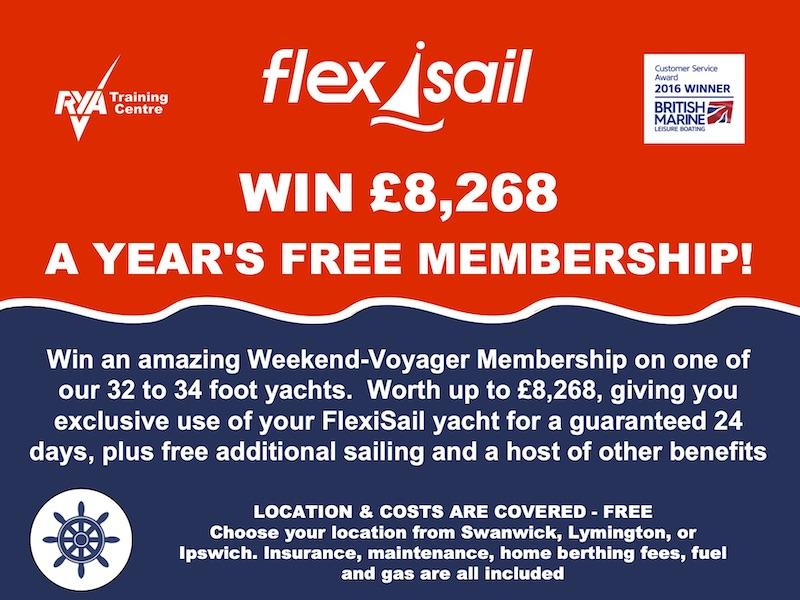 Win free membership of FlexiSail - prize draw