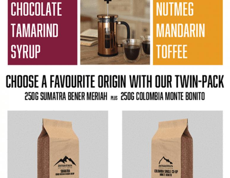 Amamus Coffee Club Single Origin Twin Pack