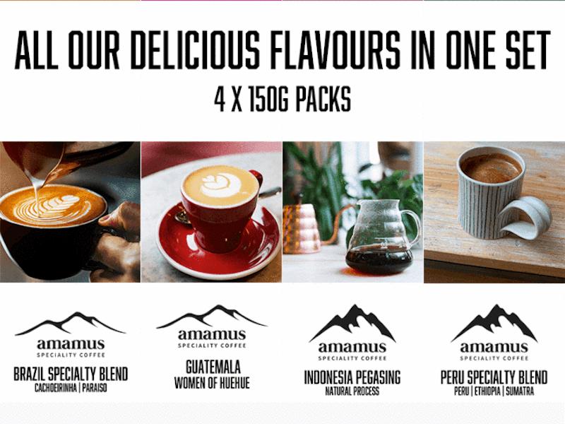 15% off Amamus Coffee Taster Kits