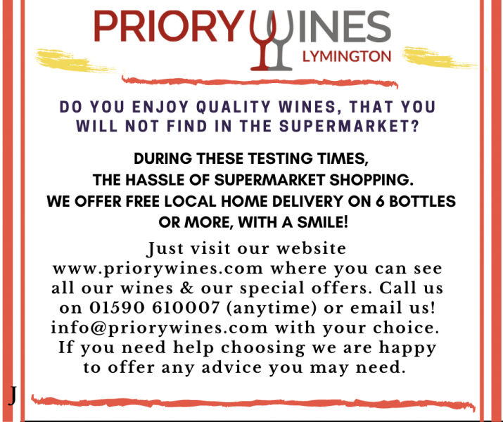 FREE Local Home Delivery from Priory Wines